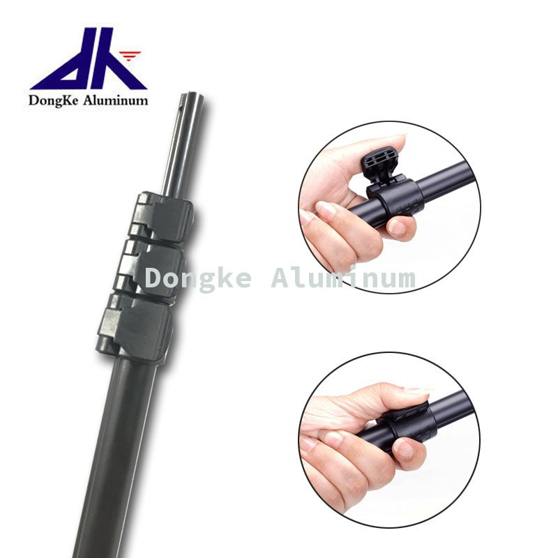 Aluminum telescopic pole with flip lock