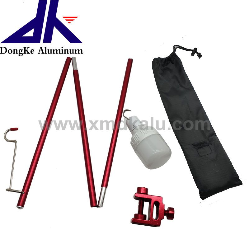 new product 3 section Telescopic pole for hanging lantern easy to use extension rod lantern support for camping
