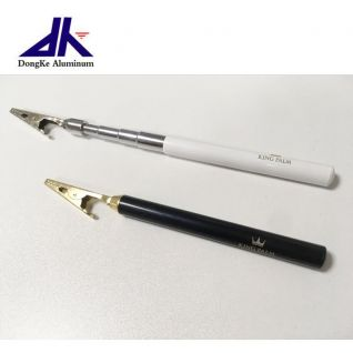 Customized stainless steel telescopic handle with alligator clip for cigar