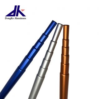 Flexible aluminum telescopic pole with internal friction lock